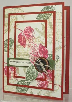 www.PattyStamps.com - Triple Layer Stamping by Nancy Baladad featuring Stampin Up fall leaves