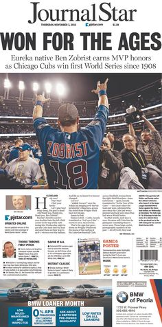 Today's Front Pages | Newseum / Journal Star, Thursday, November 3, 2016