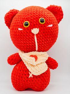 Teddy Bear, Crochet toy, Plüschtier, Weich Spielzeug, Kuscheltier. zur Geburt, Gehäkelt, Toy baby Crochet Hats, Etsy, Vintage, Gift, Cuddling, Craft Gifts, Clearance Toys, Animales, Knitting Hats