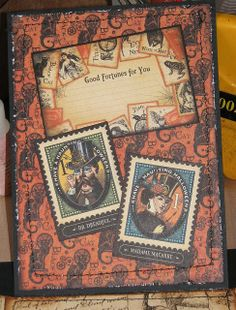 Steampunk Spells - This Way & That Album - Dr. Dreadful Page - Graphic 45 Papers & Stamps