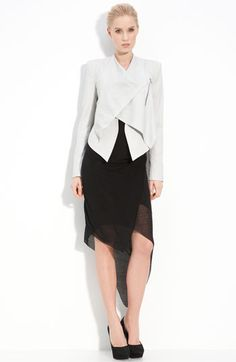 Helmut Lang Asymmetrical Woven Jacket available at Nordstrom