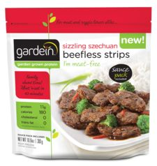 beefless - These Szechuan Beefless Strips are a delicious, nutritious and thoughtfully packaged meat-free meal from Gardein. Beef strips are extremely delic. Vegan Beef, Vegan Foods, Vegan Meals, Vegetarian Meatloaf, Vegetarian Recipes, Vegetarian Cookbook, Vegetarian Lifestyle, Pescatarian Recipes, Vegan Vegetarian