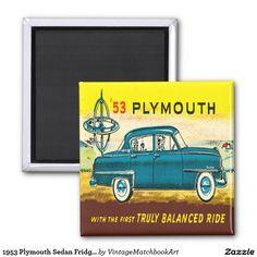 1953 Plymouth Sedan Fridge Magnet