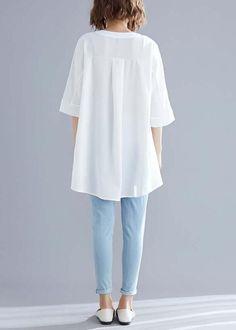 Simple Pakistani Dresses, Pakistani Dress Design, Half Sleeve Shirts, Half Sleeves, Frock Fashion, Cotton Shirt Dress, Western Dresses, Long Tops, White Fashion