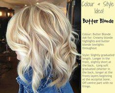Butter Blonde hair