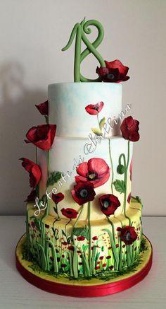 Poppies cake by graziastellina