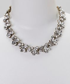 Take a look at the Sorta Southern Boutique Antique Bronze & Rhinestone Vine Necklace on #zulily today!