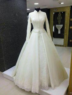 34 Types Of Muslim Wedding Dress Hijab Bride Modest Clothing 21 Muslimah Wedding Dress, Muslim Wedding Dresses, Hijab Bride, Muslim Dress, Bridal Dresses, Wedding Gowns, Wedding Hijab, Bridal Hijab, Muslim Brides
