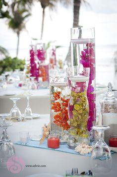 Southwest #Florida Table Decoration Inspiration  #weddings #beach #tropical #flowers #floral