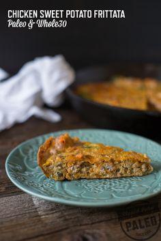 Paleo Chicken Sweet Potato Frittata | stupideasypaleo.com #paleo #whole30 #postworkout