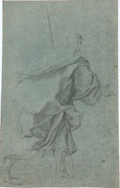 Francesco Solimena, matita nera e rialzi in biacca su carta azzurra, Figure - master-drawings.com