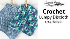 Lumpy Dishcloth Free Crochet Pattern - Right Handed