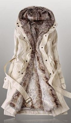 The Vogue Fashion: Cozy Fur Belted Jacket