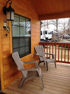 This porch is calling your name!  Relax lakeside at Lake Fork in one of our waterfront cabins!  www.PopesLanding.com