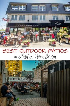 Fun outdoor patios in Halifax, Nova Scotia, Canada. East Coast Travel, East Coast Road Trip, Canada Cruise, Canada Trip, The Places Youll Go, Places To Go, East Coast Canada, New England Cruises, Nova Scotia Travel