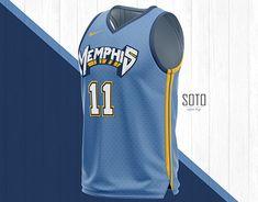 Concept jersey Nike NBA x Memphis Grizzlies Memphis Basketball, Basketball Jersey, Soccer, Memphis Grizzlies Jersey, Best Nba Jerseys, Nba Today, Mike Conley, Katana Swords, Uniform Design