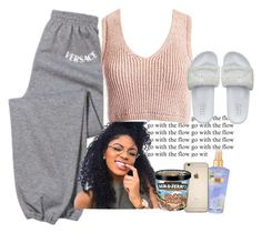"""""""Untitled #110"""" by its-me-maddie ❤ liked on Polyvore featuring Versace, Sans Souci, Victoria's Secret, Puma and versace"""