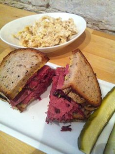 (YTT) New Jewish Deli that pickles everything, has a ruben and daily fresh veggies, and desserts. San Francisco Dining, Deli, Pickles, Sandwiches, Veggies, Vegetarian, Lunch, Fresh, Desserts