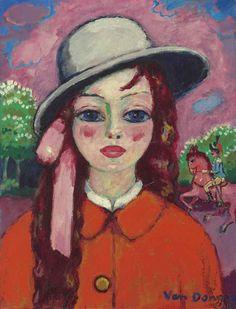 Kees van Dongen (1877-1968)  Fillette au bois, Le petit cheval rose