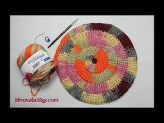 Excellent Photographs Tunisian Crochet spiral Thoughts Tunesisch Häkeln im Kreis lernen – Woolly Hugs BANDY – Veronika Hug. Crochet Doily Rug, Tunisian Crochet Patterns, Crochet Circles, Crochet Flowers, Crochet Hooks, Free Crochet, Knitting Patterns, Knit Crochet, Crochet Hairband