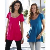 Pack of 2 Short Sleeve Tops - Large Size Clothing and Maternity Wear - www.plussizedglamour.co.uk