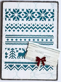 Scrapmanufaktur: Holiday Knit - Winterstrick auf Papier, geht das?