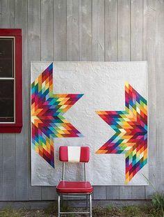 """Deconstructed Lonestar Quilt (Kit) - designed by Carolyn Murfitt, via Keepsake Quilting;  62"""" x 66"""""""