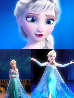 """Elsa now, age:49, she got married to Raph from tmnt, she became a mother, 1 girl, her name: Katin/Kate. When Kate was a little girl she used to get scared of her powers like her mom did, but Elsa told her """"Don't worry about your powers, think happy thoughts and the fear will go away. Such a good mother :3"""