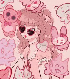 Kawaii Art, Kawaii Anime Girl, Manga Anime, Anime Art, Aesthetic Art, Aesthetic Anime, Pixiv Fantasia, Art Sketchbook, Drawing Reference