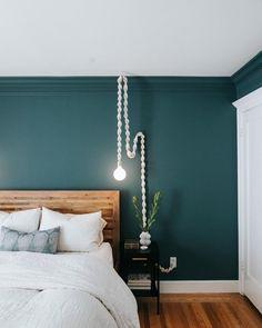 Master Bedroom Design - Katie Monkhouse Interior Design - Harrogate, U. Teal Bedroom Decor, Bedroom Wall Colors, Bedroom Green, Home Bedroom, Bedroom Small, Teal Bedroom Walls, Teal Bedrooms, Teal Walls, Bedroom Ideas