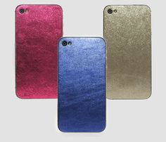 Metallic iHide Cases.