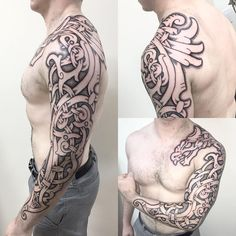 I don't think I'll ever get bored of drawing dragons on people. Here's another…