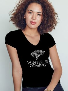 tricou game of thrones, winter is coming, got Winter Is Coming, Game, T Shirt, Tops, Fashion, Supreme T Shirt, Moda, Tee Shirt, Fashion Styles