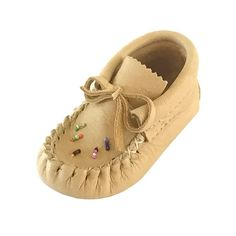 Baby Moosehide Beaded Moccasins Description Details Sizing These adorable baby moccasins are cute and attractive. They are made of real moose hide leather in. Toddler Moccasins, Baby Moccasins, Toddler Shoes, Toddler Girls, Toddler Outfits, Girl Outfits, Beaded Moccasins, Leather Moccasins, Leather Sandals