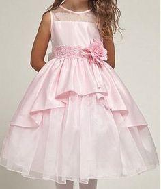 Нарядное платье для девочки с ассиметричным подолом, выкройки от 1 до 14 лет (Шитье и крой)   Журнал Вдохновение Рукодельницы