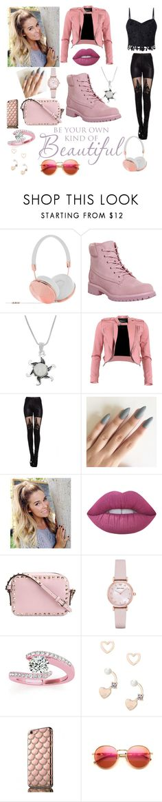 """""""Pink Out!"""" by beautydiva13 ❤ liked on Polyvore featuring Frends, Timberland, Jewel Exclusive, FRACOMINA, Lime Crime, Valentino, Emporio Armani, Allurez, Lipsy and Wildfox"""
