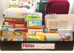 filofax ideas | This is my first completed project: a Filofax goodies organizational ...