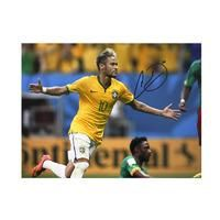 Neymar Jr Signed Brazil Photo: World Cup Goal vs Cameroon
