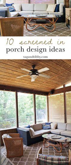 10 creative screened in porch design ideas for your home #homedesign #autumn #porch #screenedporch