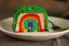 More rainbow cake.