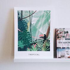 """[POLAPRINTS] """"La luxuriante et très jolie TROPICAL évoque l'aventure et le dépaysement"""" @plumetismagazine"""