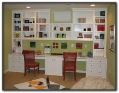 Would like something like this for my craft room with only one sitting area to maximize storage.