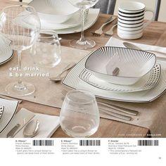Stylish Dinnerware In Kohls Wedding Gift Registry 2015 Catalog
