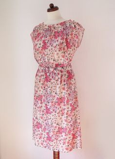 1970's Floral Dress from Etsy