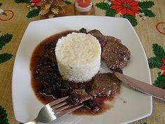 Medalion de caprioara cu sos de mure | Bucatar maniac si prietenii Steak, Grains, Beef, Chicken, Food, Meat, Essen, Steaks, Meals