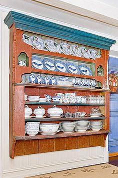 Old Norwegian Lids Shelf (Lokkhylle)