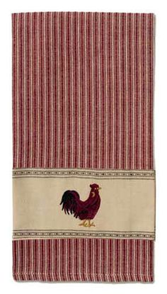 Rust Rooster Kitchen Towel