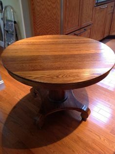 Antique Round Oak Dining Table 42