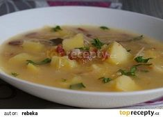 Czech Recipes, Chorizo, Cheeseburger Chowder, Food And Drink, Favorite Recipes, Treats, Snacks, Cooking, Eastern Europe