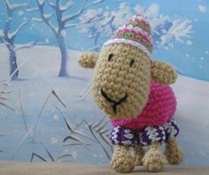 Cosy Sheep toy crochet pattern. PDF. 8 pages including 17 photos. Cute little lamb.. $3.50, via Etsy.